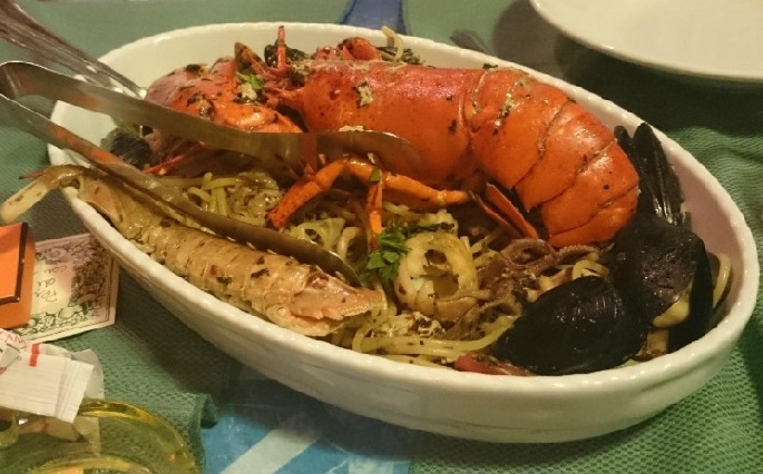 Linguine all'Aragosta e crostacei